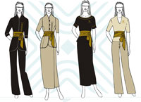 Catherine moore couture uniforms for Spa uniform south africa