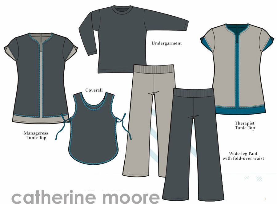 Catherine moore uniforms security maintenance for Spa uniform south africa
