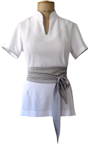 Catherine moore spa uniforms for Spa uniform tops